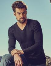 Men´s V-Neck T-Shirt Longsleeve