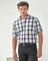 Ginmill Check Mens Long Sleeve Cotton Shirt