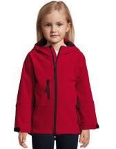 Kids` Hooded Softshell Jacket Replay