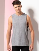 Men`s High Neck Slash Armhole Vest