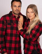 Women`s Woven Plaid Flannel Shirt
